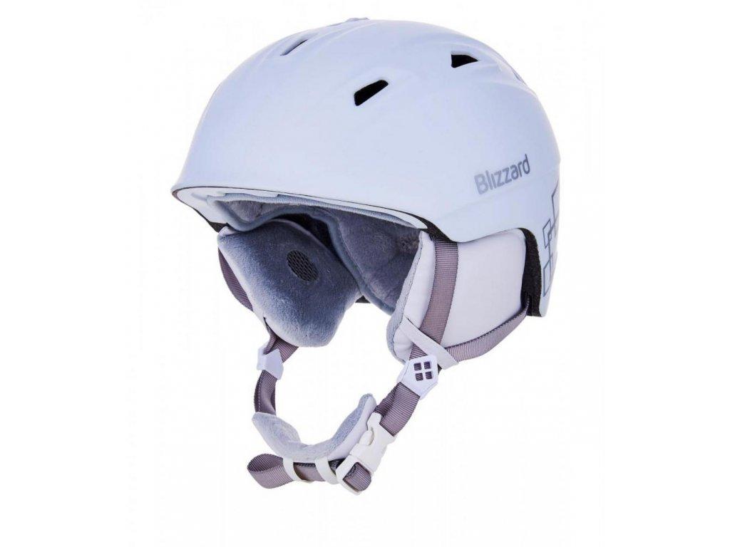 BLIZZARD Viva Demon ski helmet, white matt/silver squares