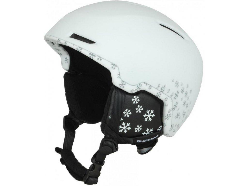 BLIZZARD Viva Viper ski helmet, white matt/silver snowflakes
