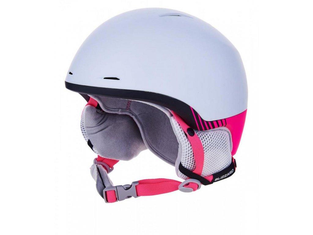 BLIZZARD Viva Speed ski helmet, white matt/black matt/pink matt