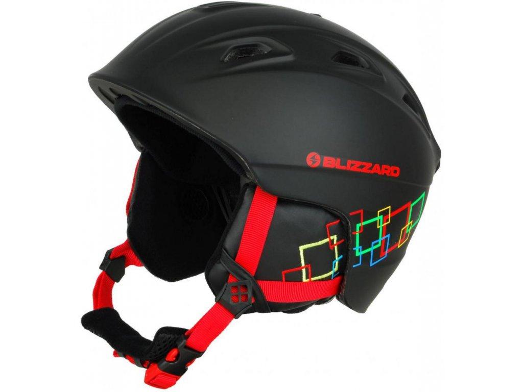 BLIZZARD Demon ski helmet junior, black matt/colorfull squares