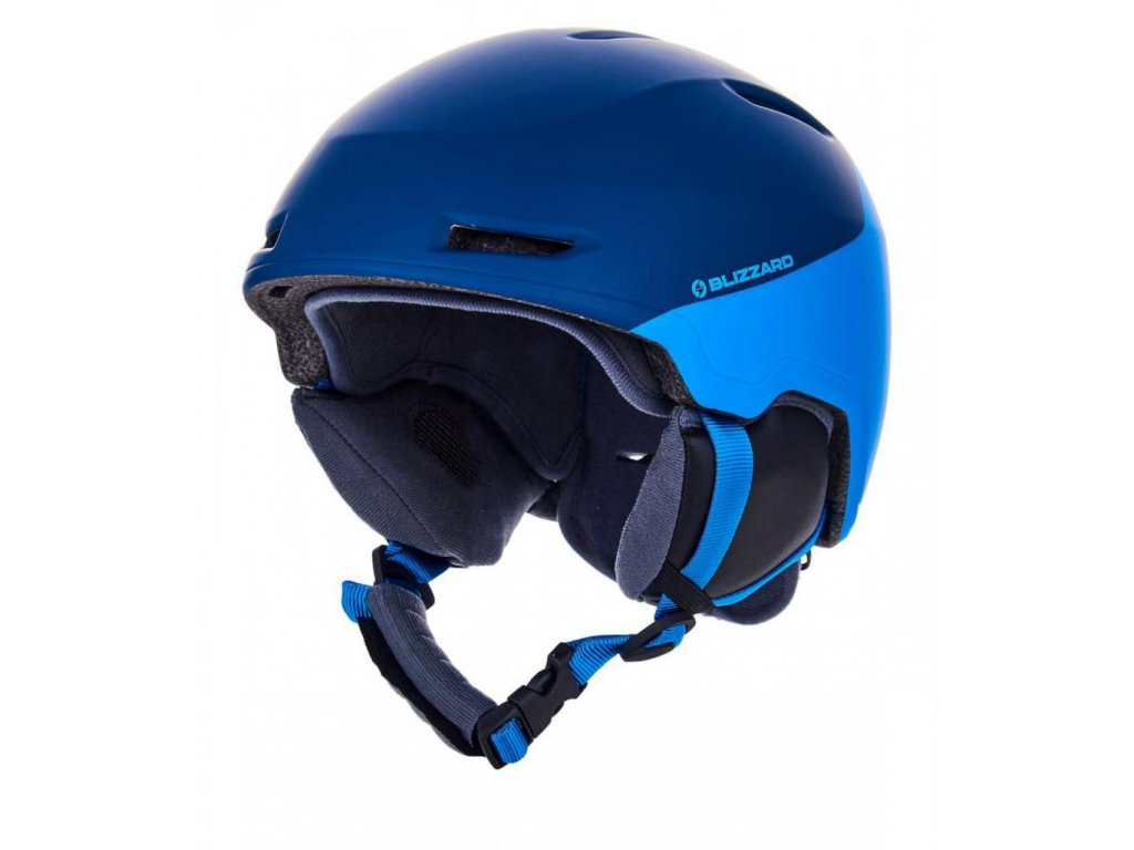 BLIZZARD Viper ski helmet junior, dark blue matt/bright blue matt