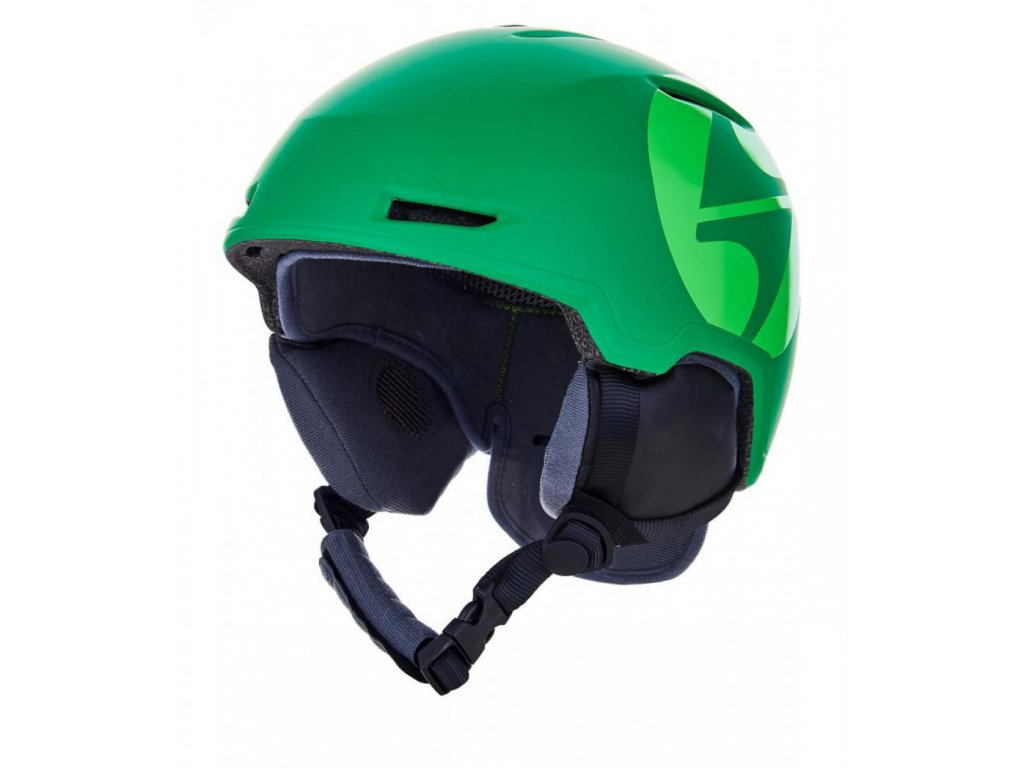 BLIZZARD Viper ski helmet junior, dark green matt/bright green matt