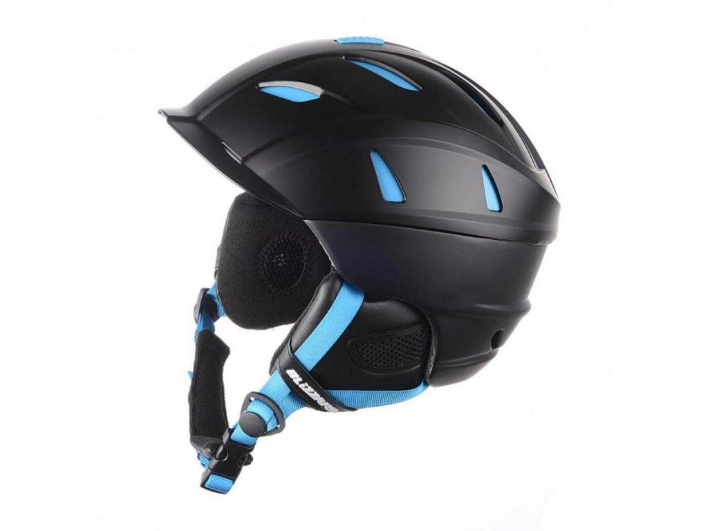 BLIZZARD Power ski helmet, black matt/neon blue