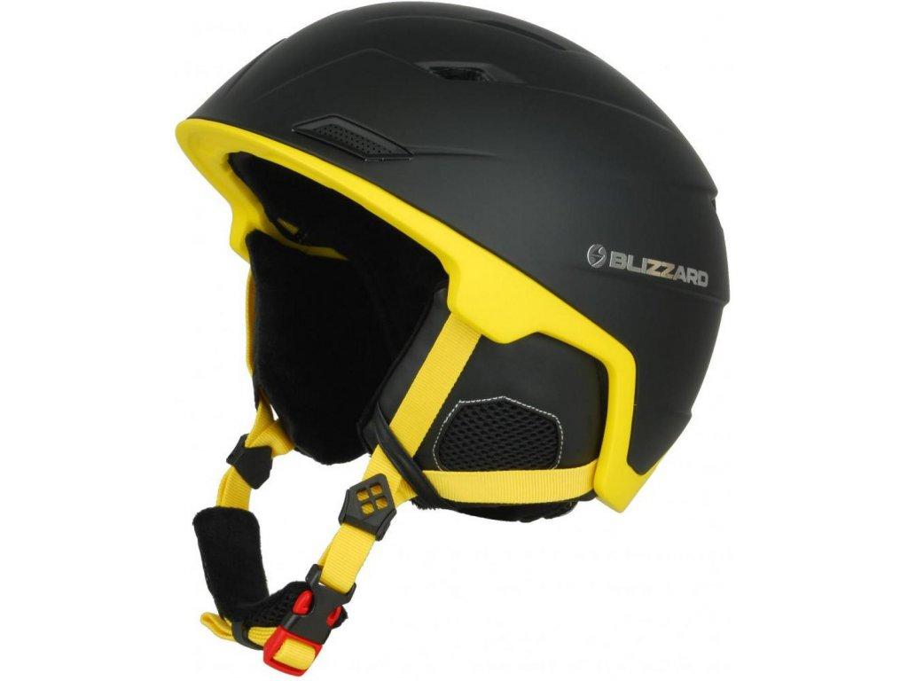 BLIZZARD Double ski helmet, black matt/neon yellow