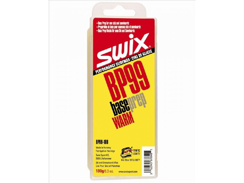 vosk SWIX BP99 180g žlutý základový preparační
