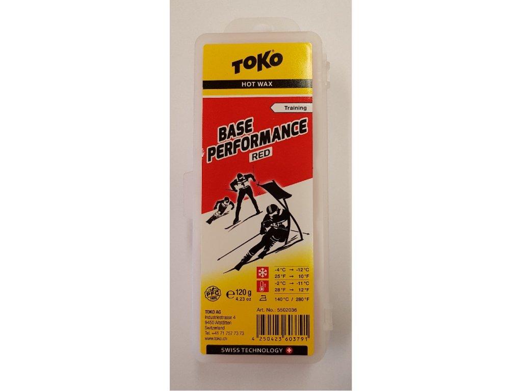 vosk TOKO Base Performance 120g red -4/-12°C