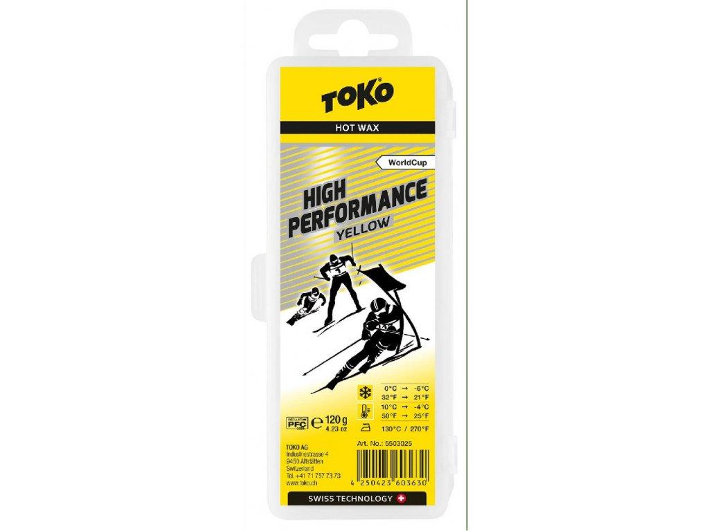 vosk TOKO High Performance 120g yellow 0/-6°C