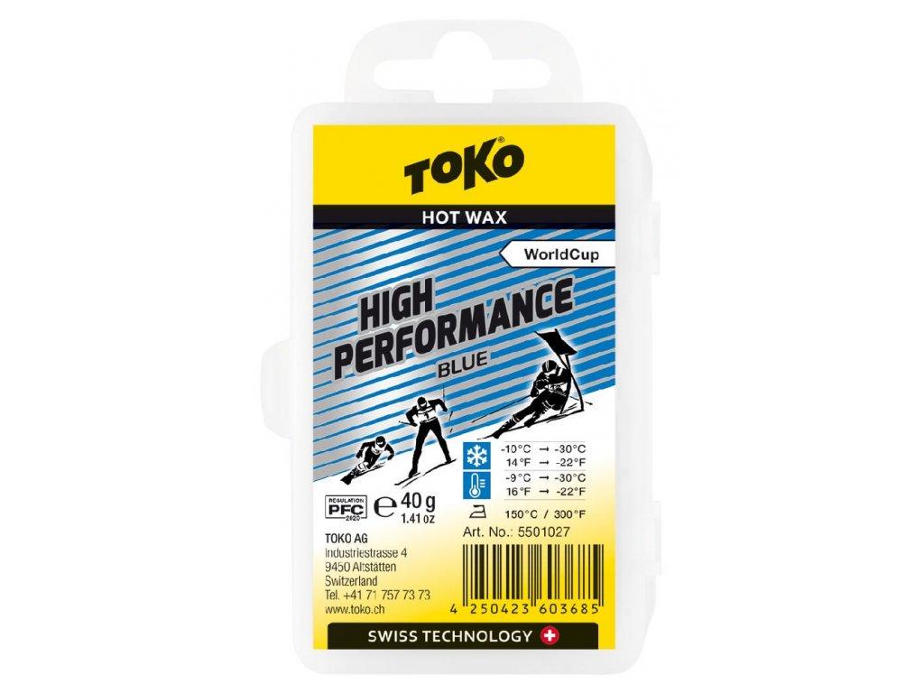 vosk TOKO High Performance 40g blue -10/-30°C