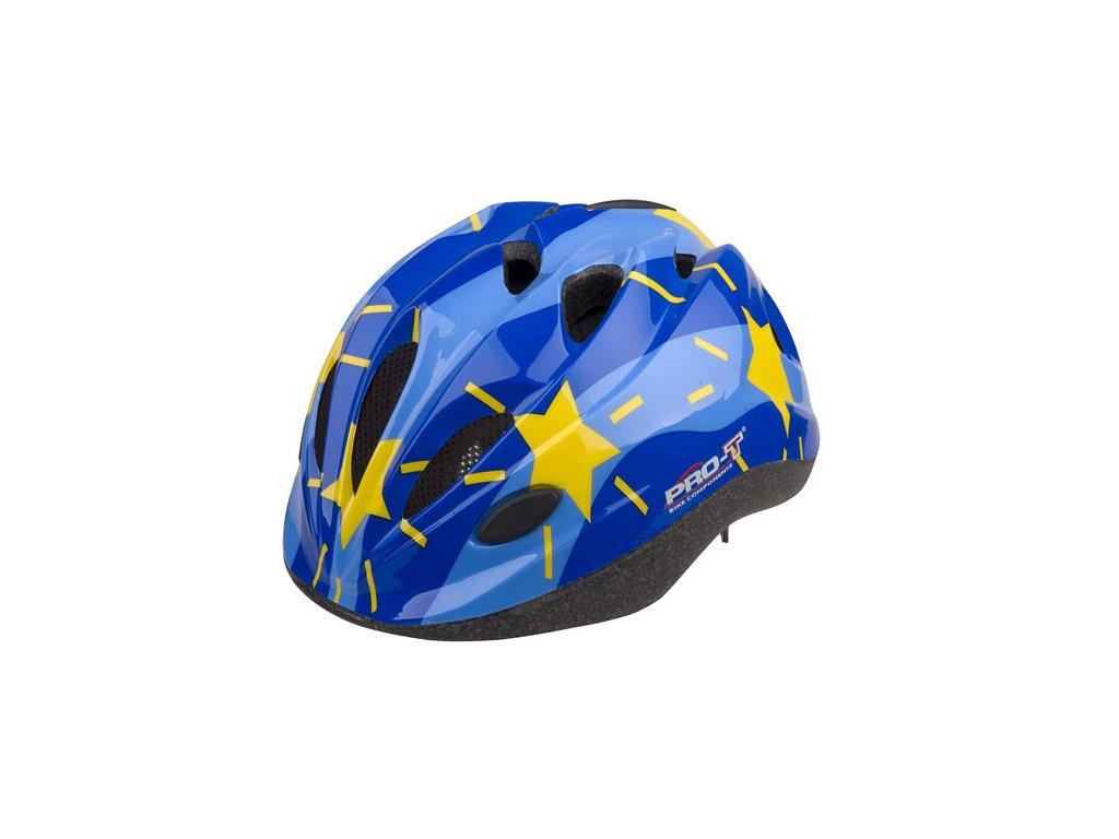 Přilba Pro t Vigo modro-sv.modrá,hvězdy