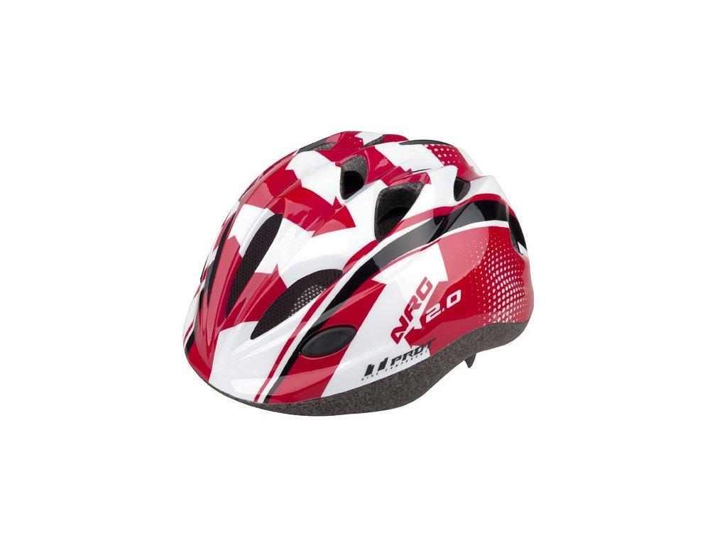 přilba Pro t Vigo červeno-bílo-černá