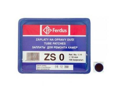 lepení Ferdus záplaty ZS0 16mm - 100ks