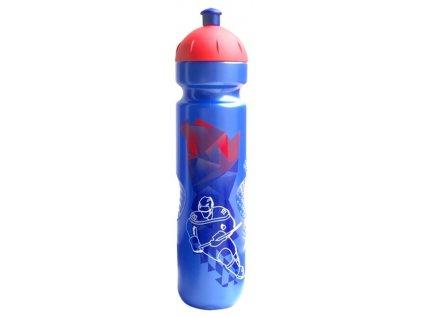 láhev ISOSTAR 1l modro/červená sosák hokej