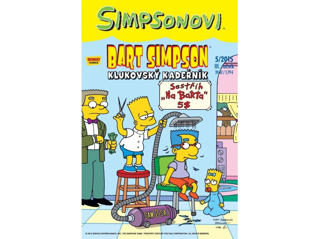 Simpsonovi: Bart Simpson 05/2015 - Klukovský kadeřník