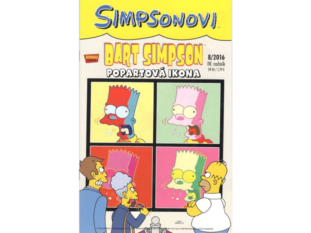 Simpsonovi: Bart Simpson 08/2016 - Popartová ikona