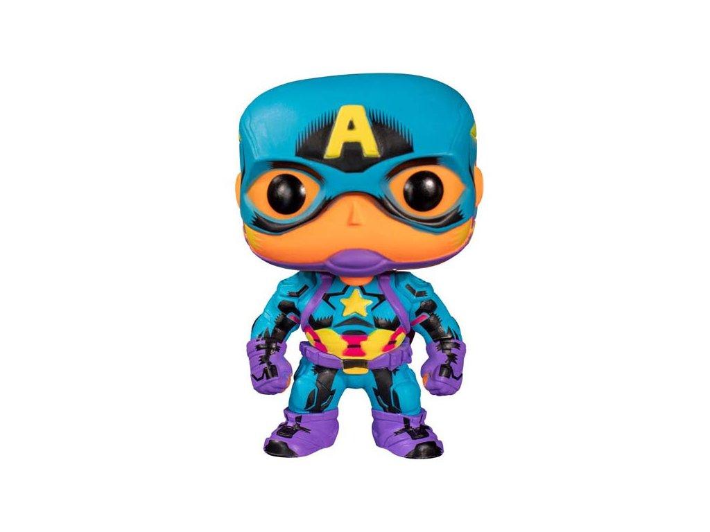 Funko POP! Marvel Black Light: Captain America (Special Edition)