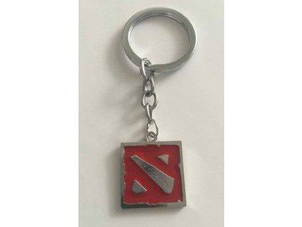 Dota 2 Kľúčenka Logo Silver