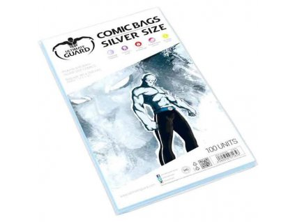 Obaly na komiksy Ultimate Guard Comic Bags Re-Sealable Silver Size (100)