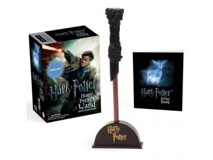 Harry Potter Wizard's Wand with Sticker Book: Lights Up! (Miniature Editions)