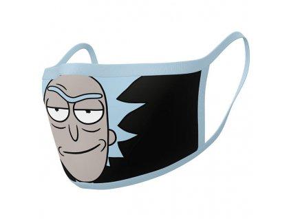 Rúška Rick and Morty Face Masks Rick 2-Pack