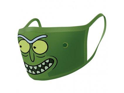 Rúška Rick and Morty Face Masks Pickle Rick 2-Pack