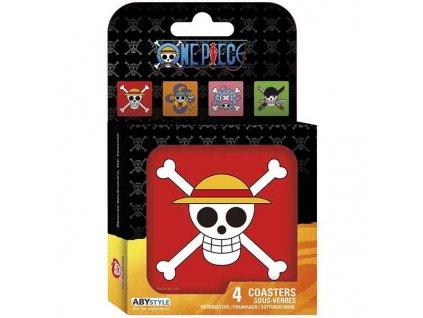 One Piece Skulls Tácky pod poháre (4-Pack)