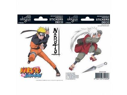 Naruto Shippuden Naruto and Jiraiya Nálepky 2-Pack (16 x 11cm)
