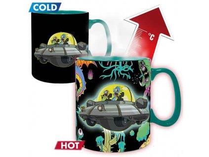 Šálka Rick and Morty Spaceship Heat Change