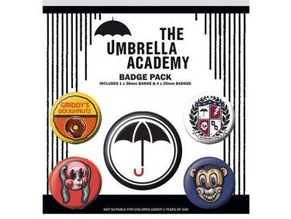 umbrella academy odznaky 5 pack 5050293806808