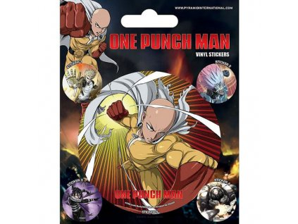 one punch man atomic fist nalepky 5 pack 5050293474182