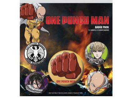 one punch man destructive odznaky 5 pack 5050293806488