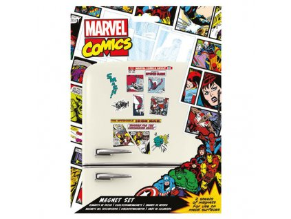 marvel comics fridge magnets set 5050293650807