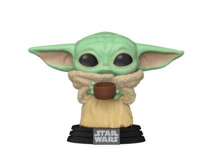 funko pop star wars the mandalorian the child with cup baby yoda 889698499330
