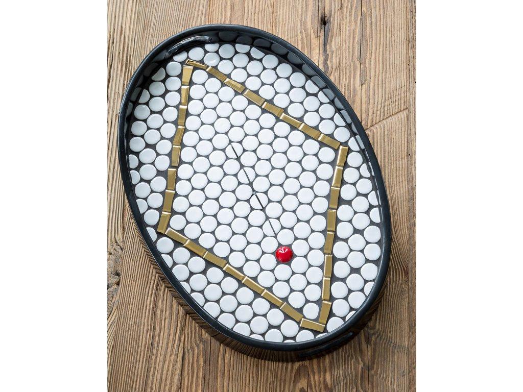 Mozaikový Tác ovál