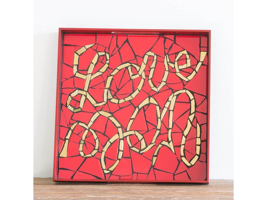 Mozaikový tác - Love Vole