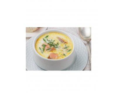 Rybí polévka z pstruha lososovitého