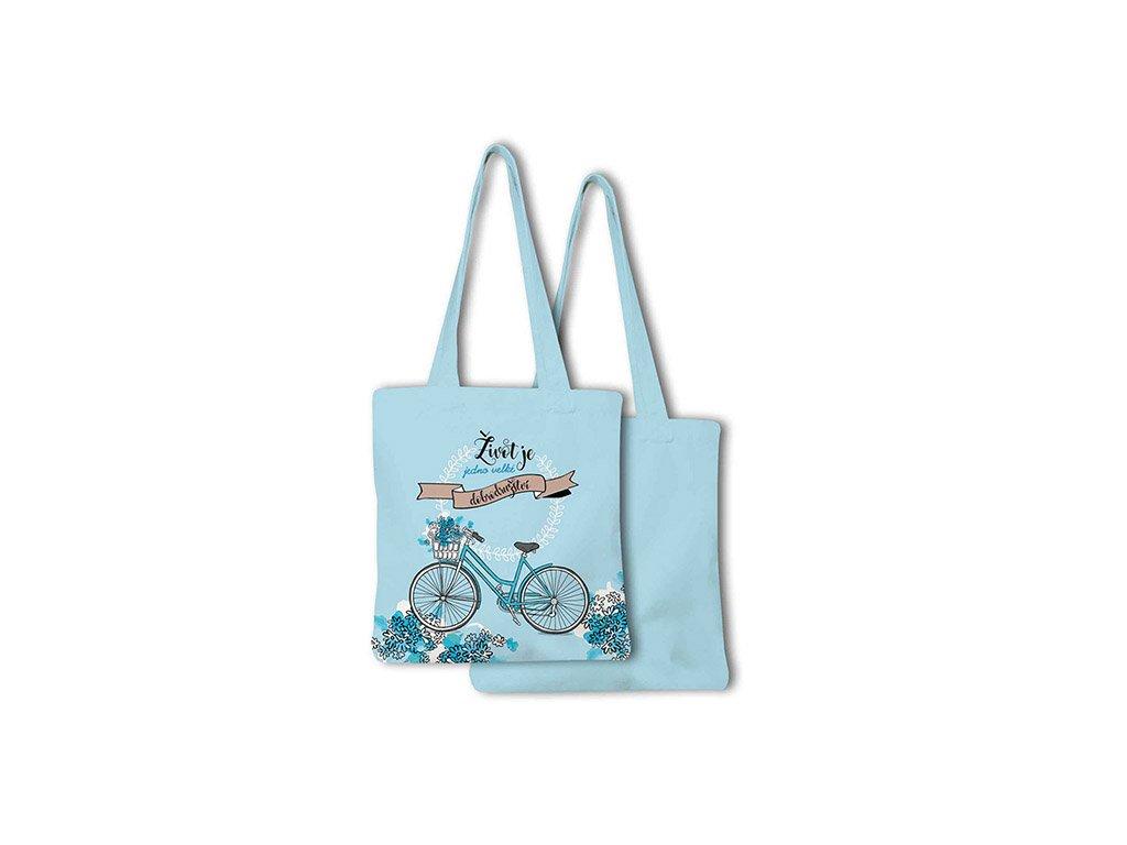 Nákupní taška skládací Buď jedinečná Jízdní kolo