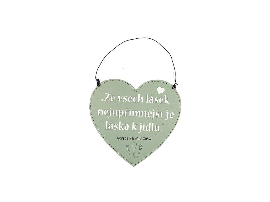 Dřevěná cedule srdce do kuchyně Ze všech lásek