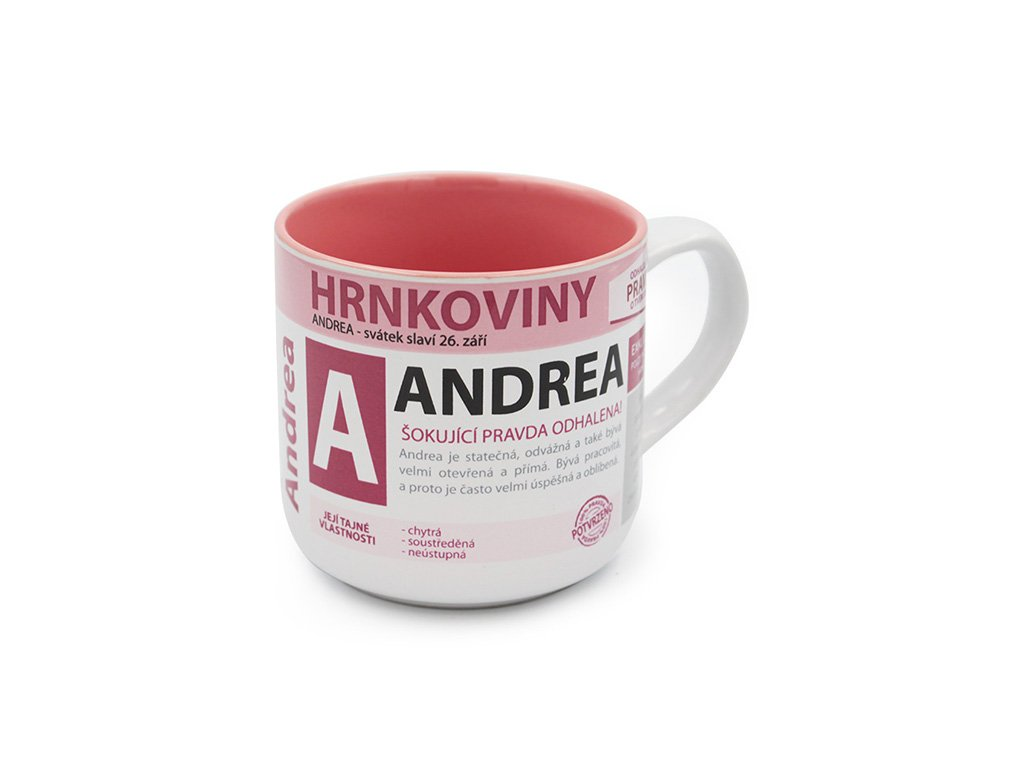 Hrnek se jménem ANDREA Hrnkoviny