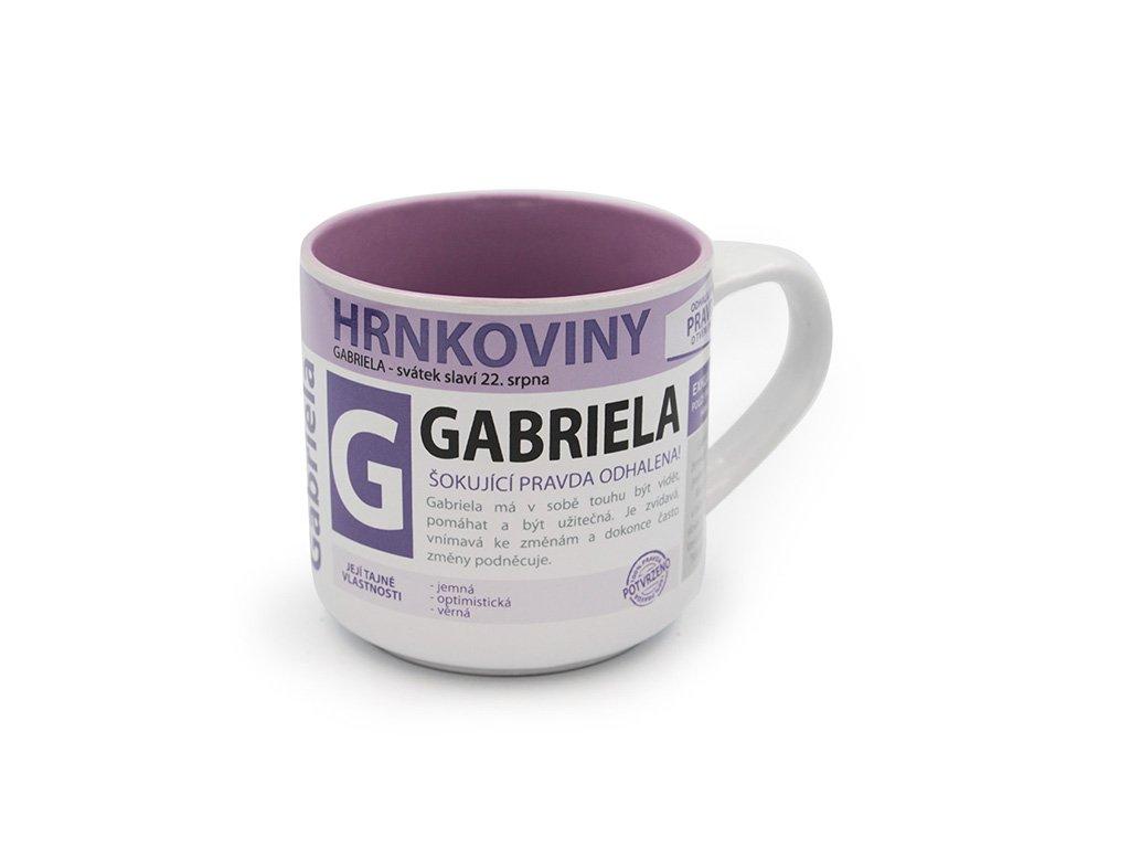 Hrnek se jménem GABRIELA Hrnkoviny