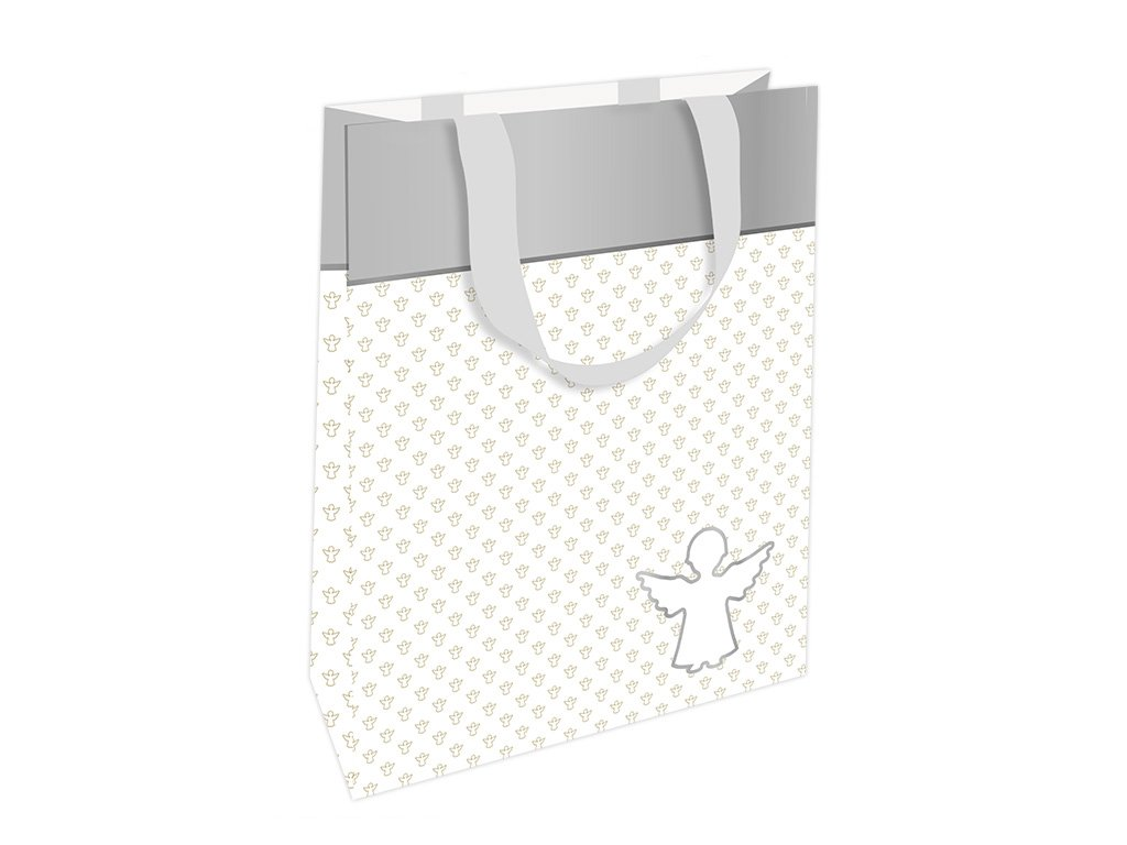 Dárková taška Klíčenky pro štěstí, bílá