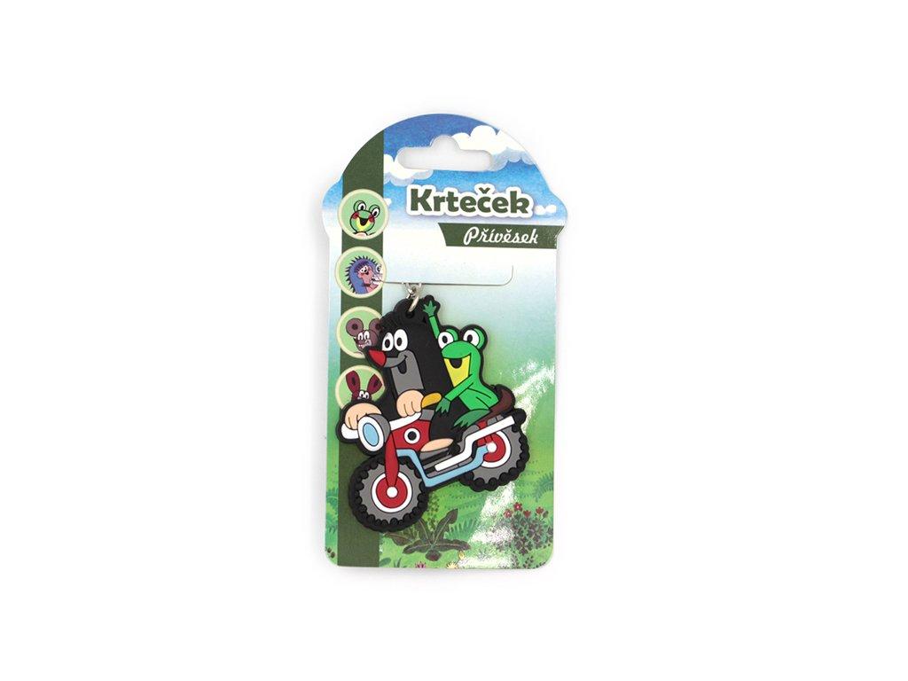 Dětská klíčenka Krteček na motorce