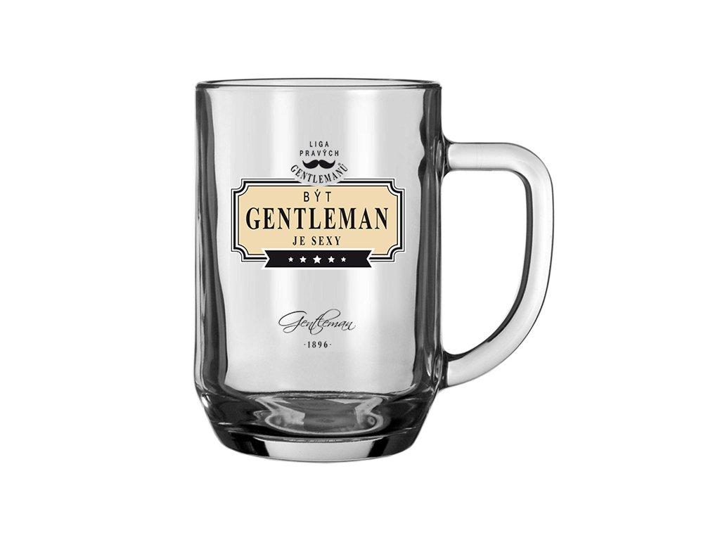 Pivní sklenice Gentleman je sexy