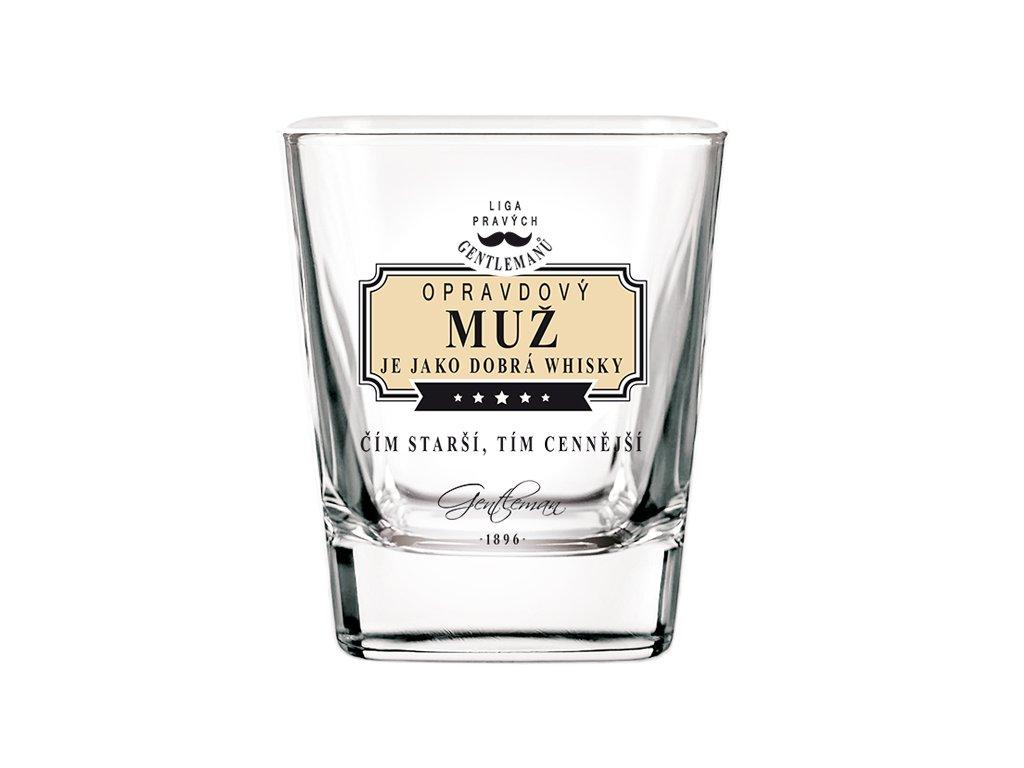 Sklenice na whisky Opravdový muž