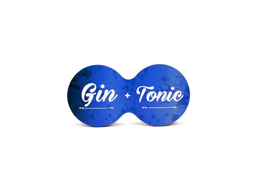 Originální dvojitý podtácek s potiskem Gin + tonic