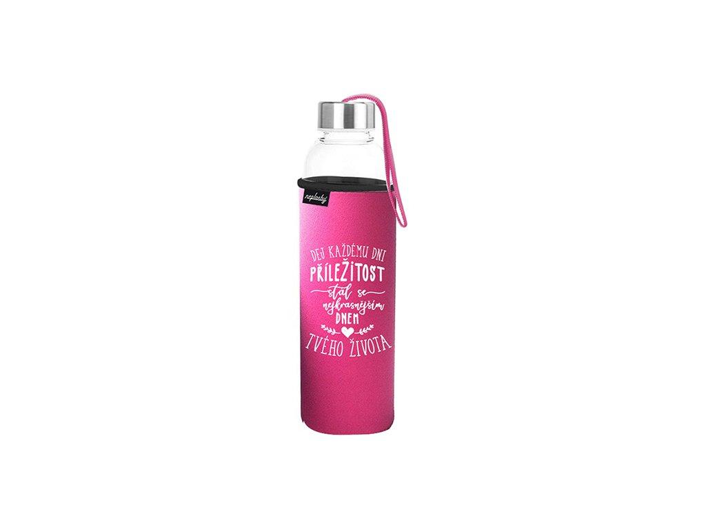 Cestovní lahev na pití Nejkrásnější den Neplastuj
