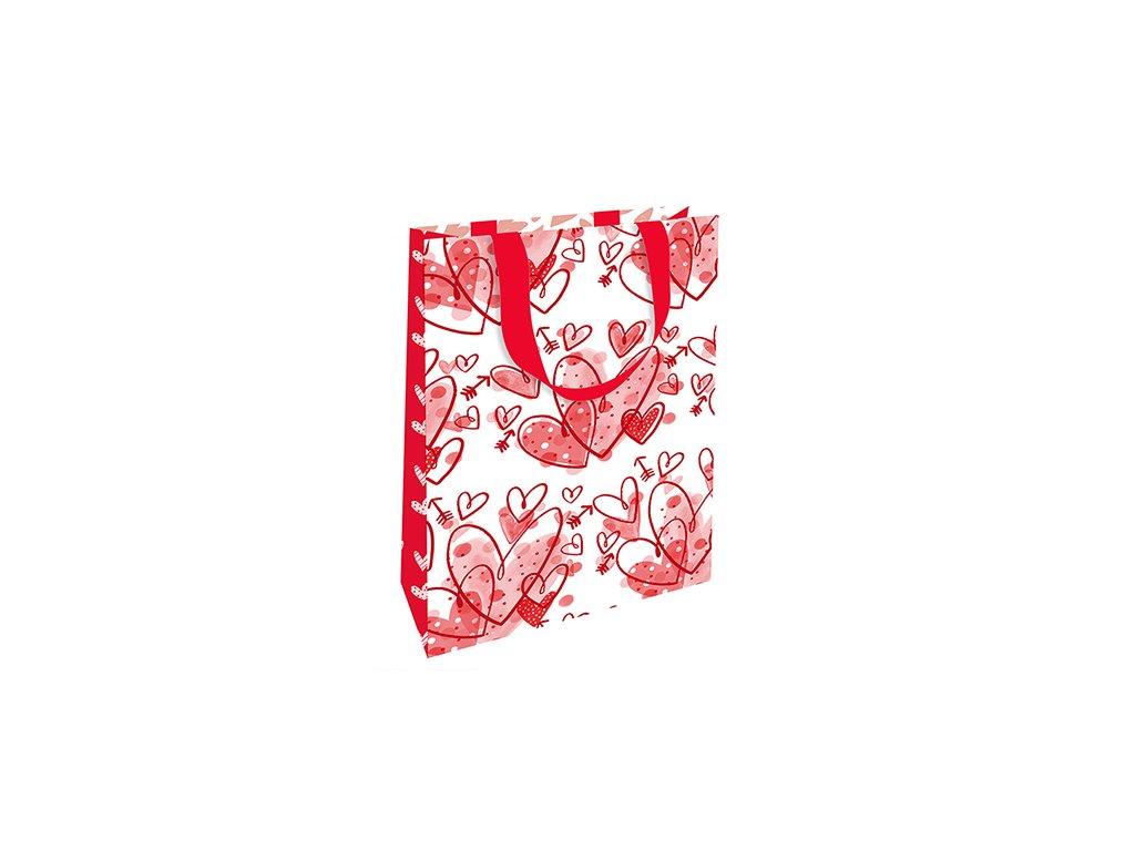 Dárková taška malá Srdíčka