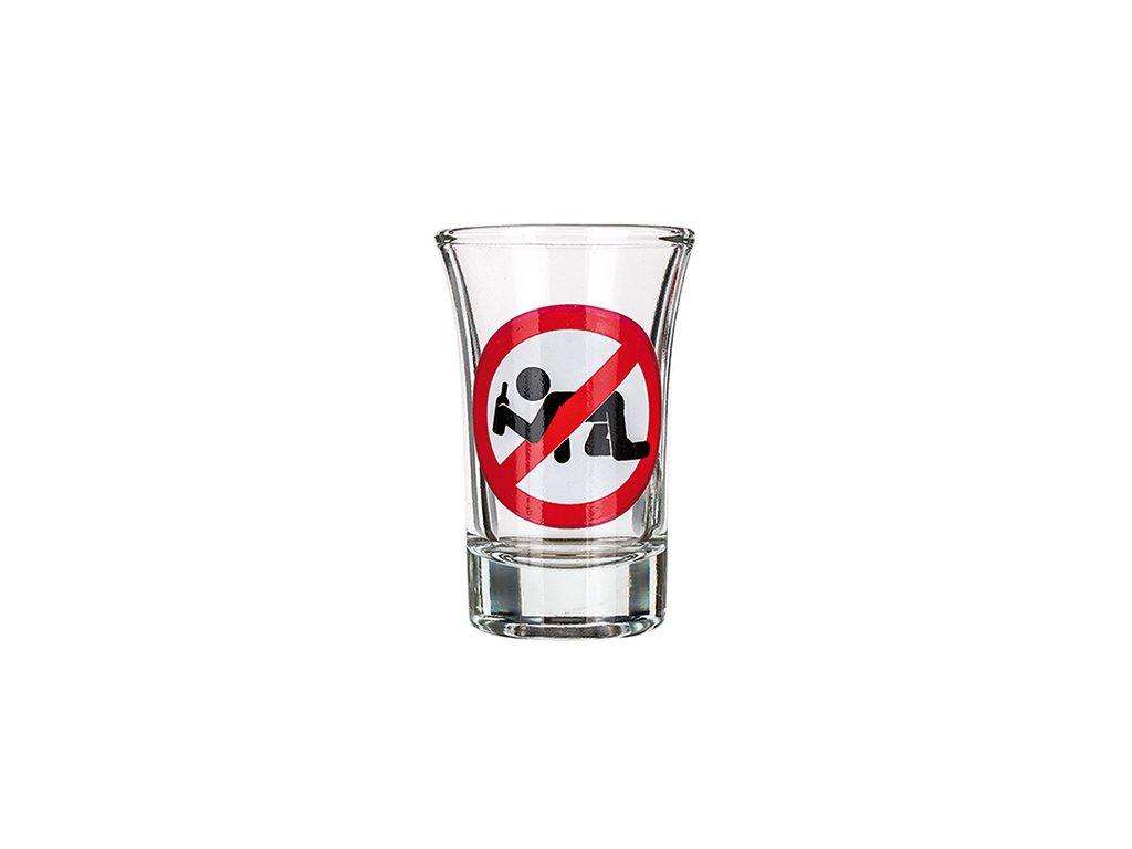Vtipný panák Zákaz konzumace