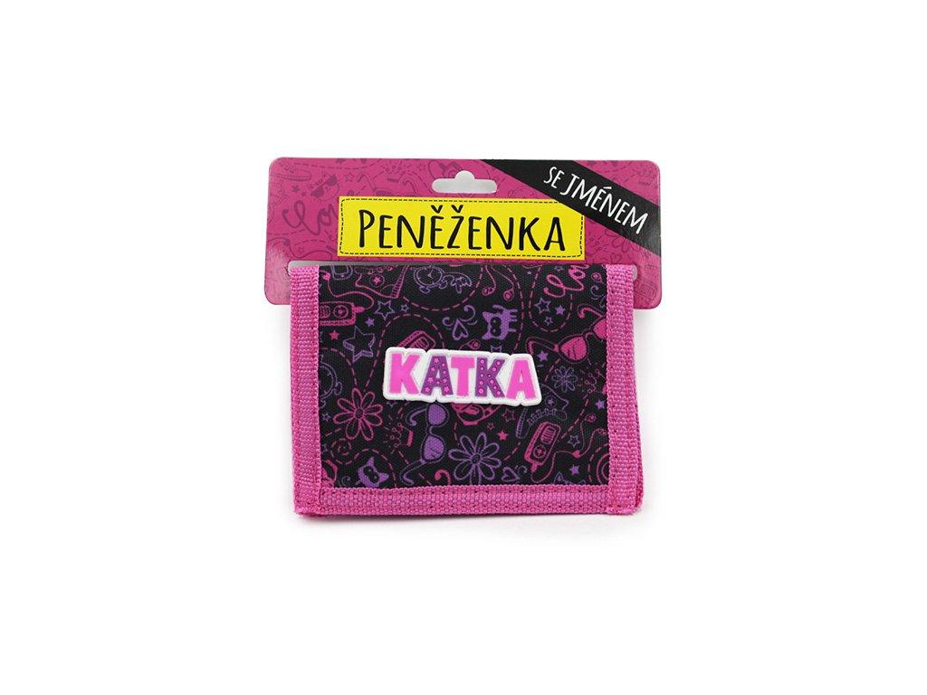 Dětská peněženka se jménem KATKA