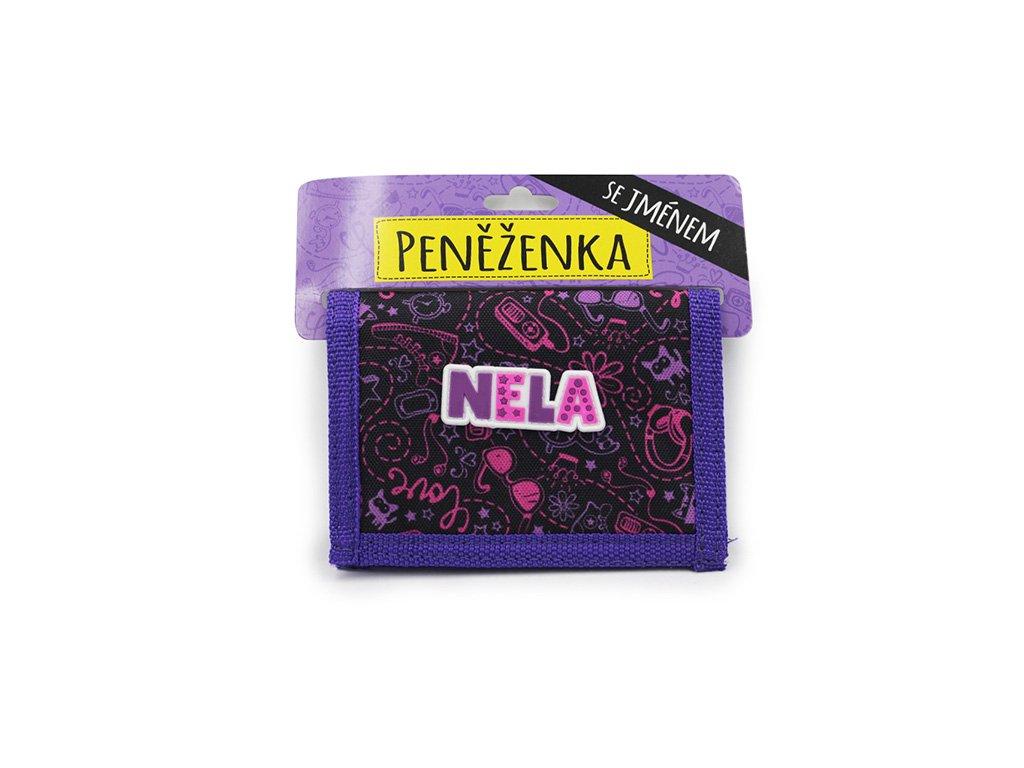 Dětská peněženka se jménem NELA