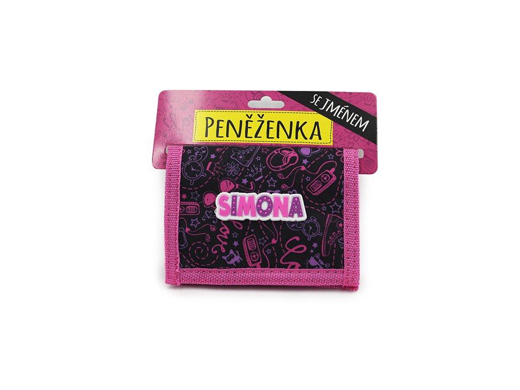 Dětská peněženka se jménem SIMONA